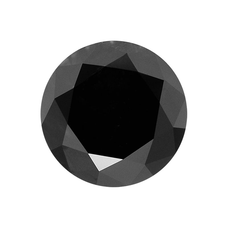 round cut black diamond
