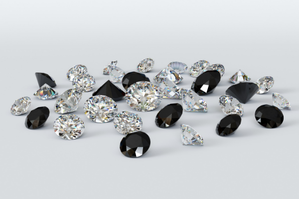 white & black diamonds