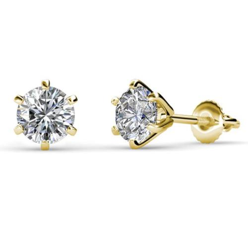731aba8c3 2.00 Carat Solitaire Stud Earrings In 14k Yellow Gold 14k White Gold  Diamond Stud Earrings In 0.10 Carat Gift For Your Lady Love14k Rose Gold  Claw Prong ...