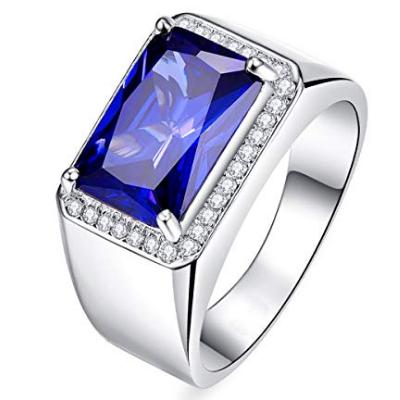 emerald cut sapphire ring