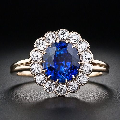 diamond alternating ring sapphire bands wedding band blue