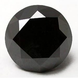 loose round cut black diamond