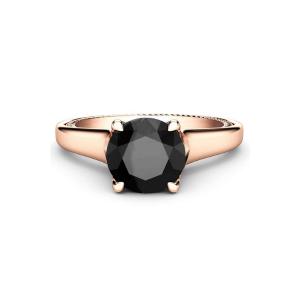 1ct 14k rose gold diamond engagement ring
