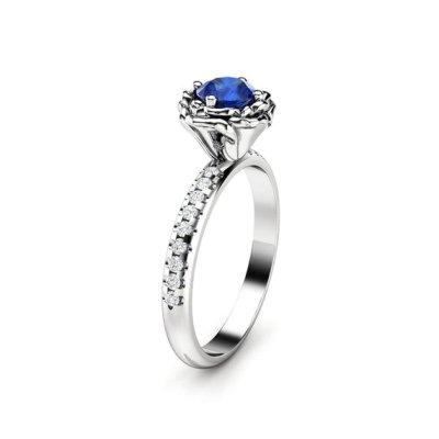 flower sapphire ring