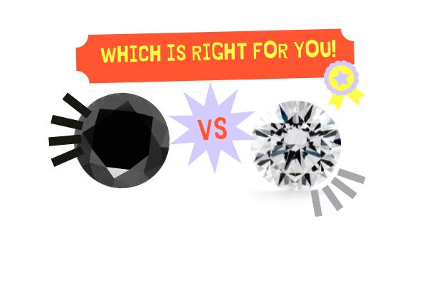 black diamond vs white diamonds