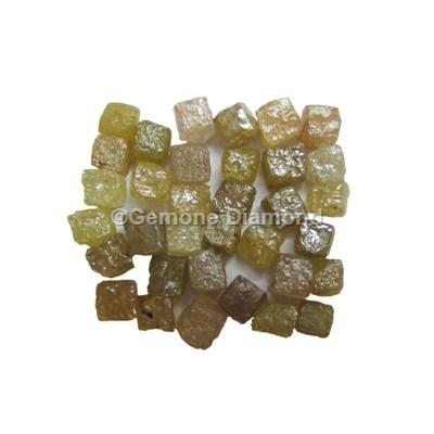 Natural Uncut Congo Cube Rough Diamonds