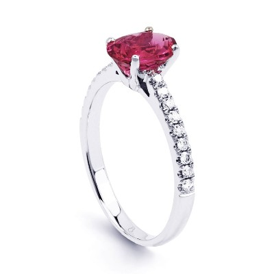 Watermelon Tourmaline Stone Ring