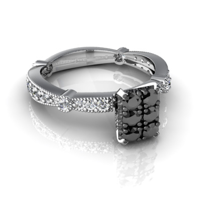 Beautiful wedding rings with black and white diamodns for for Wedding rings for sale online