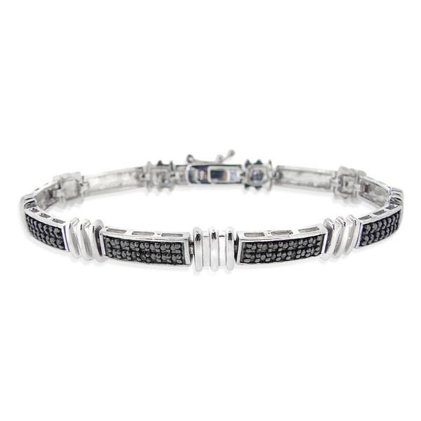 tennis bracelet black diamonds