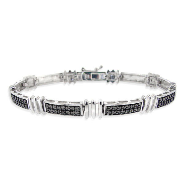 tennis bracelet black diamonds