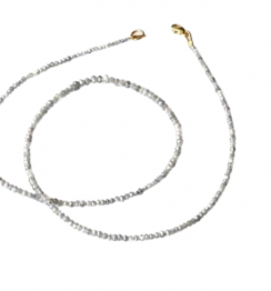 white faceted diamond beads online