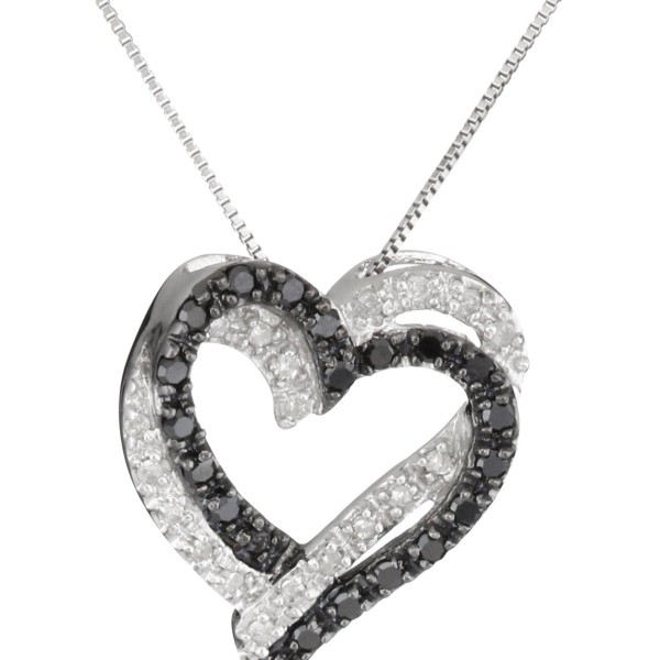 Heart pendant necklace in 14k white gold from gemone diamonds large image aloadofball Gallery