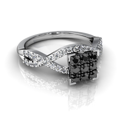 Amazing Wedding Rings With Black And White Diamonds For Sale Online