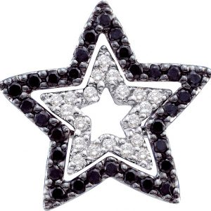 diamond fancy star shaped pendant