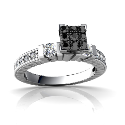 certified 038 ct natural black and white diamond cheap real diamond wedding rings - Cheap Real Diamond Wedding Rings