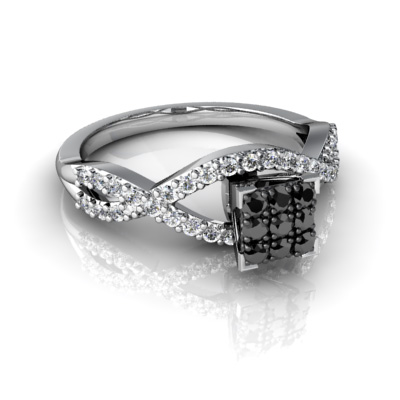Budget Wedding Rings With Black And White Diamonds For Sale Online