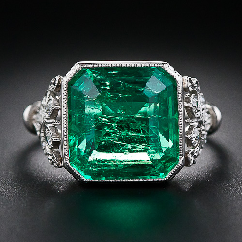 diamond engagement gold ring box rosados esmeralda and love emrald halo emerald rectangle rings promise white jewelers