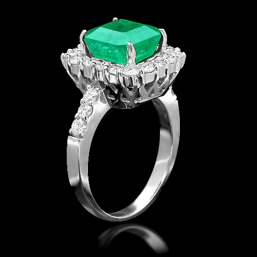 genuine emerald ring