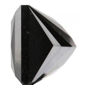 princess cut black diamond