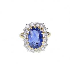 sapphire yellow gold ring
