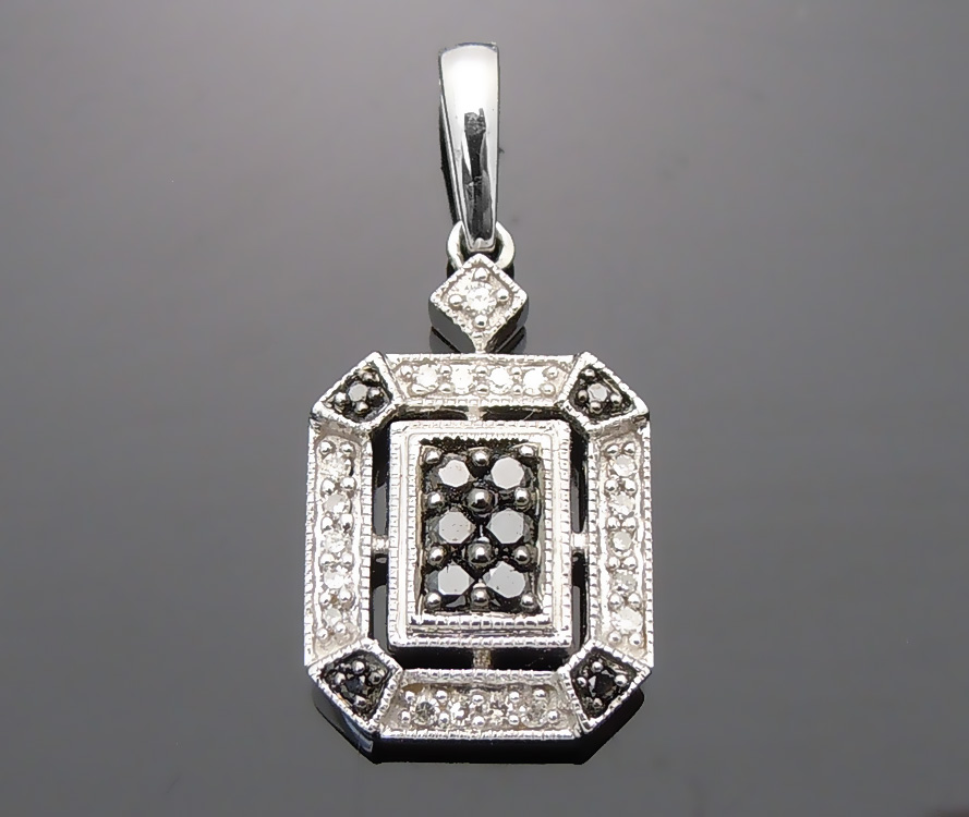 diamond charm iced gold mens genuine img octagon men s itm ct pendant yellow