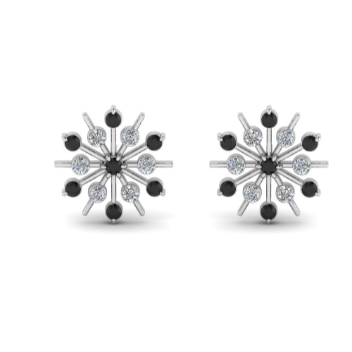 snowflake stud earrings