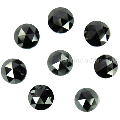 rose cut diamonds black color lot