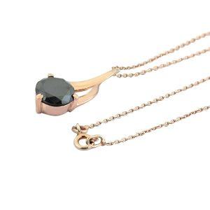 Black Diamond Solitaire Pendant