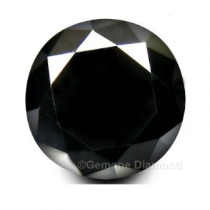 natural round cut loose black diamond