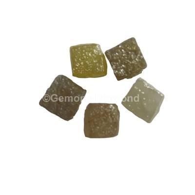 natural rough uncut congo cube diamonds