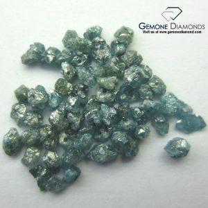 natural blue rough uncut loose diamonds drilled
