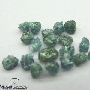 greenish blue rough loose diamond beads