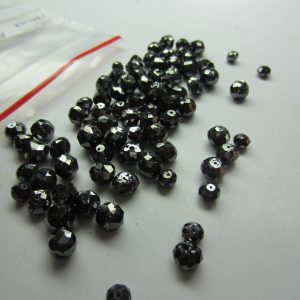 Natural Black Loose Diamond Beads