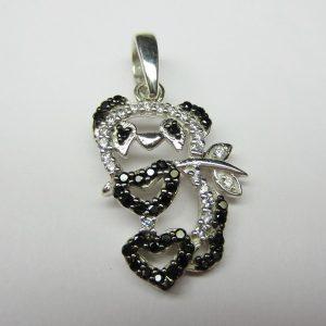 diamond panda pendant
