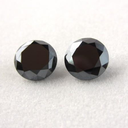 loose black diamonds pair