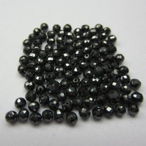 faceted black diamond beads