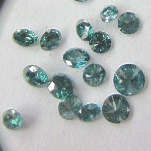Green Color Natural Round Loose Diamonds