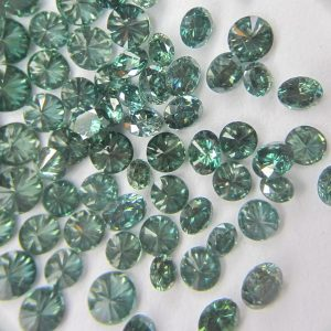 green color natural loose diamonds round brilliant lot