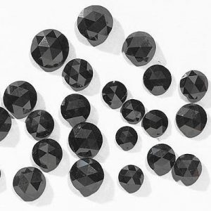 natural rose cut black diamonds lot