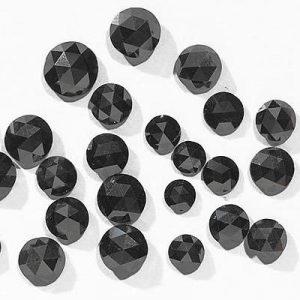calibrated rose cut black diamonds