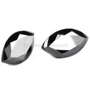 black marquise diamonds