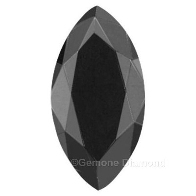 Marquise Cut Diamond Jet Black Color For Engagement Rings