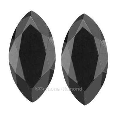 black marquise cut diamond pair