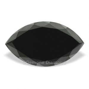 black marquise cut diamond