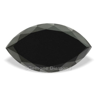 black marquise cut diamond
