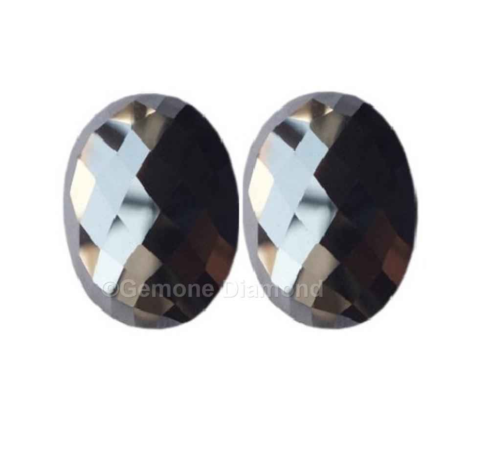2 Carat Aaa Quality Loose Rose Cut Oval Diamond Pair For Antique Diamond  Earrings 3 Carat Aaa Quality Loose Pair Of Black Rose Cut Oval Diamond For  Fancy