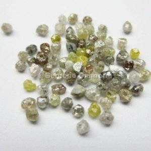 Rough diamond beads mix color