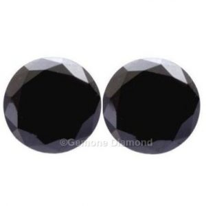 7 carat black diamond pair