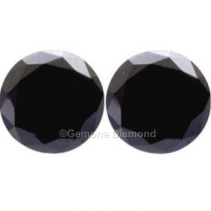6 carat black diamond pair