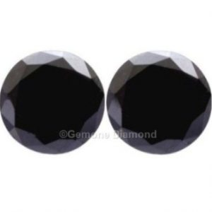 5 carat black diamonds pair